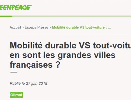 Mobilité durable : Nice et Marseille épinglées par Greenpeace